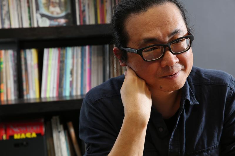阮光民談台灣漫畫困境。