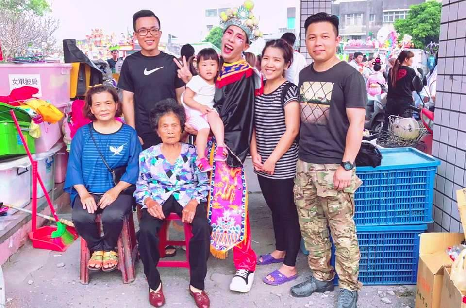 北港迎媽祖是家鄉大事,林進成了家族中第一個參加真人藝閣的成員。