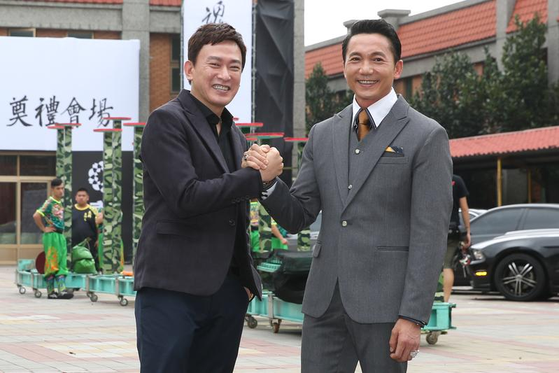 王識賢與鄒兆龍(右)在《角頭2:王者再起》飾演兩個管理風格南轅北轍的黑道大哥。