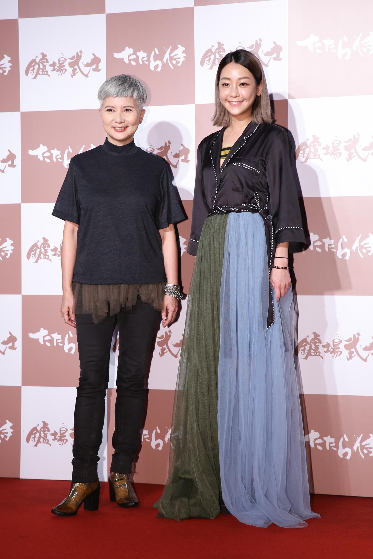 本身就是放浪兄弟歌迷的知名監製李烈,還曾到日本看演唱會。右為謝欣穎。