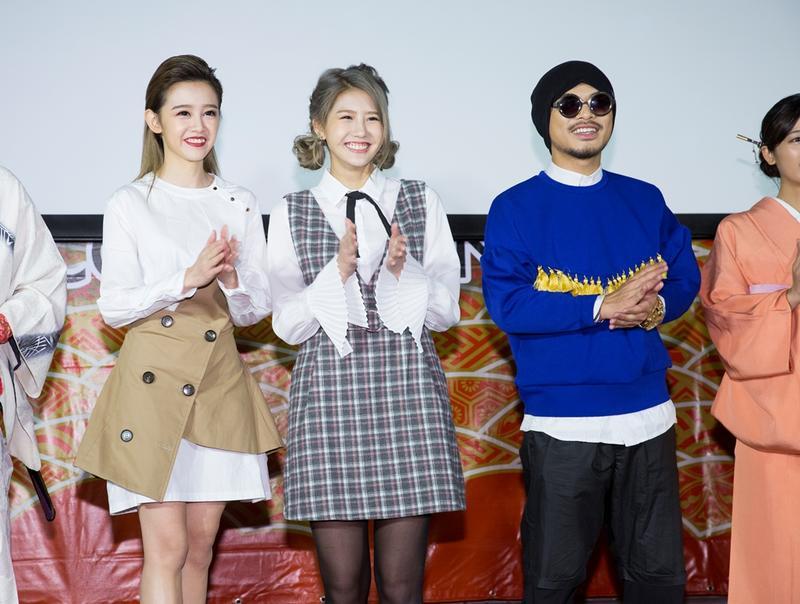 何念茲、四葉早及黃明志一起參加Cool Japan TV開台活動。
