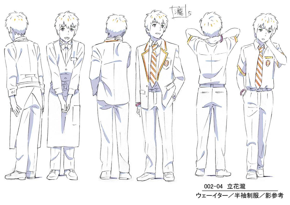 新海誠找來田中將賀擔任《你的名字》人物設定,為主角立花瀧增加不少活潑可愛感。(寬宏藝術提供)