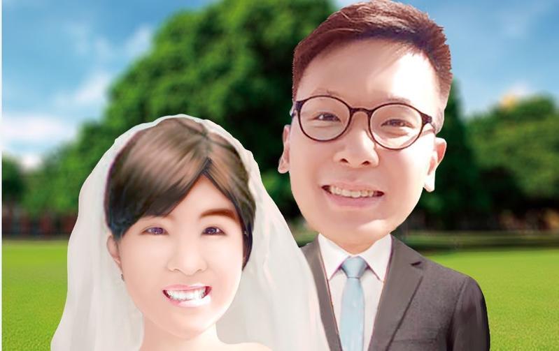 林飛帆與林雅萍已拍完婚紗,將在今年6月完婚。(模擬畫面)