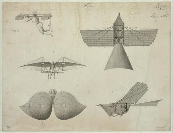 自古至今,人類始終懷抱飛行的夢想。(圖片截自美國Library of Congress網站)