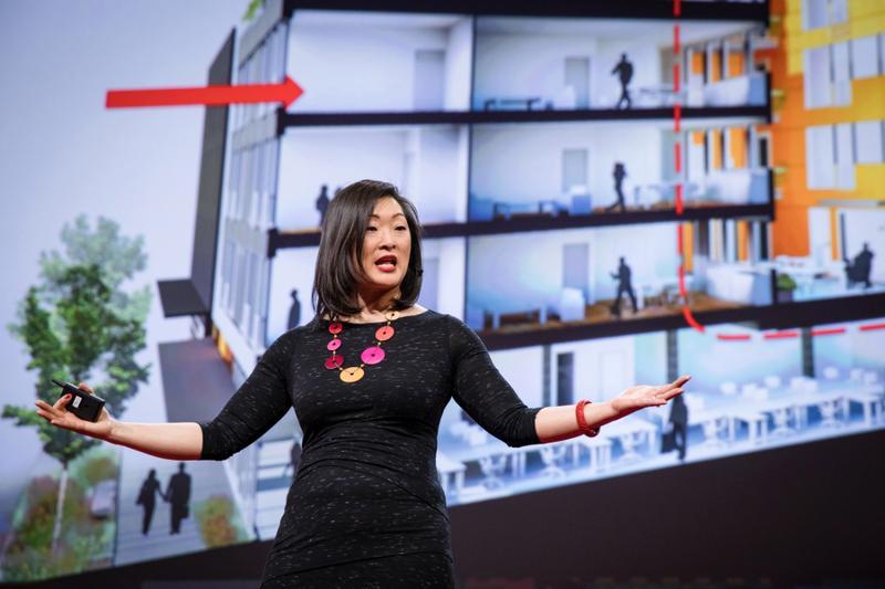 建築師Grace Kim在Ted演說,提倡共居生活。(翻攝Ted)