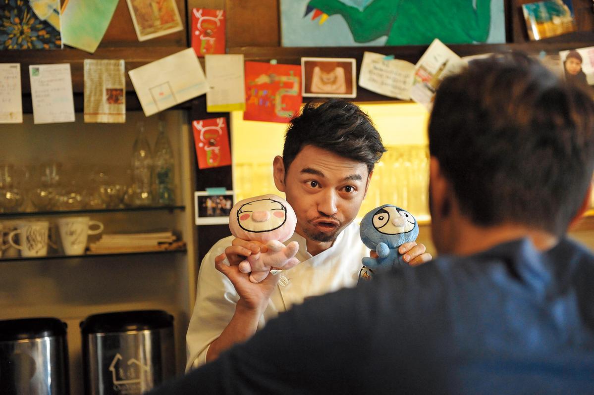 阿Ken一直都希望往電影咖邁進,在《被偷走的那五年》演出配角。