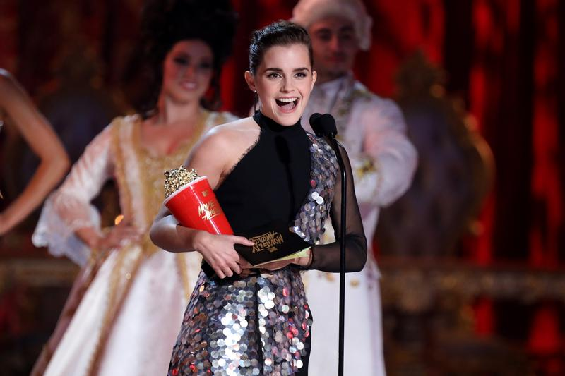 剛揭曉的MTV電影電視獎,艾瑪獲得「最佳電影演員」殊榮。(東方IC)