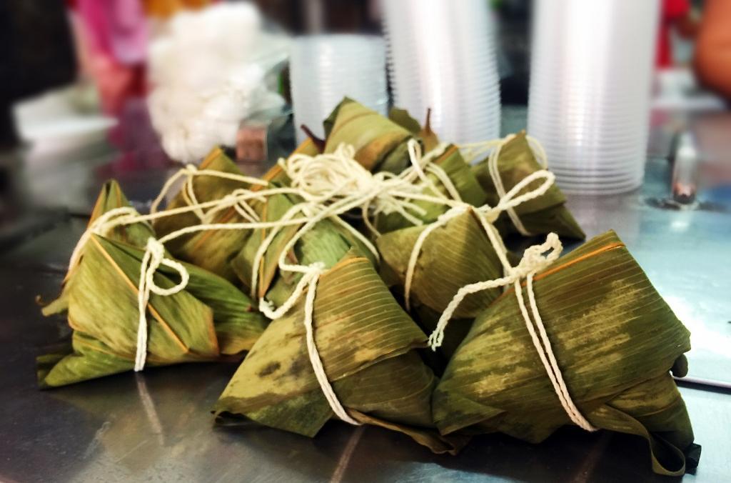 一串串的梗粽是自家每天現包。