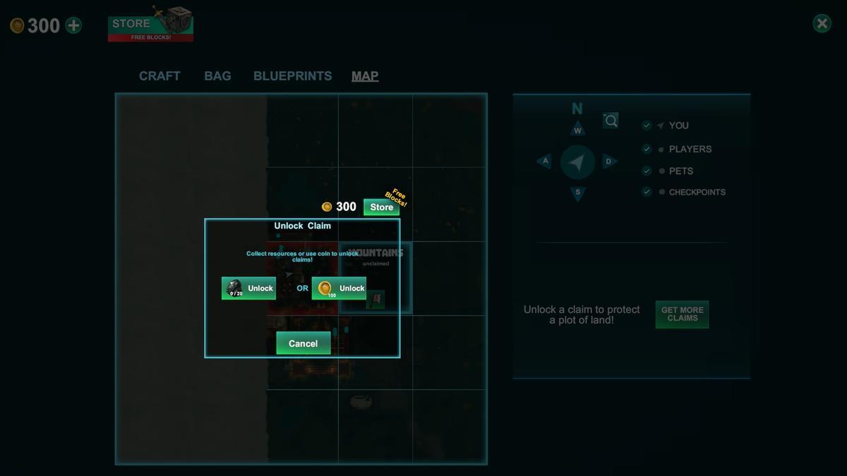 玩家可以佔領沒有主人的領地