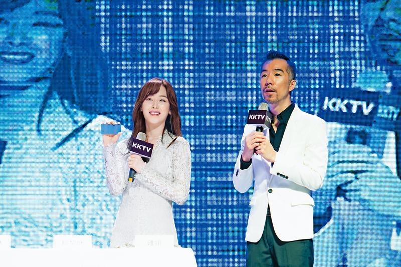 KKTV去年8月正式營運,記者會請來韓劇《又是吳海英》女主角徐玄振站台。(KKTV提供)