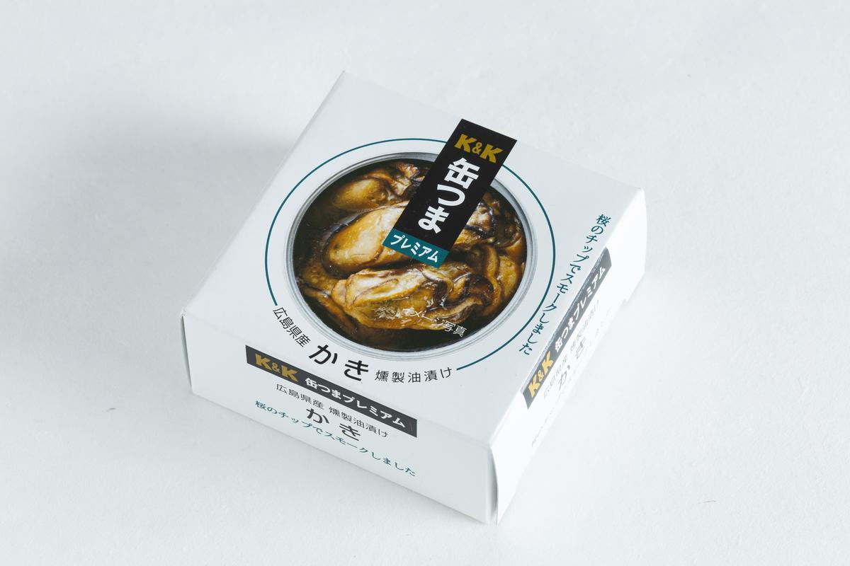 K&K 廣島煙燻牡蠣罐頭。(微風超市,280元/罐)