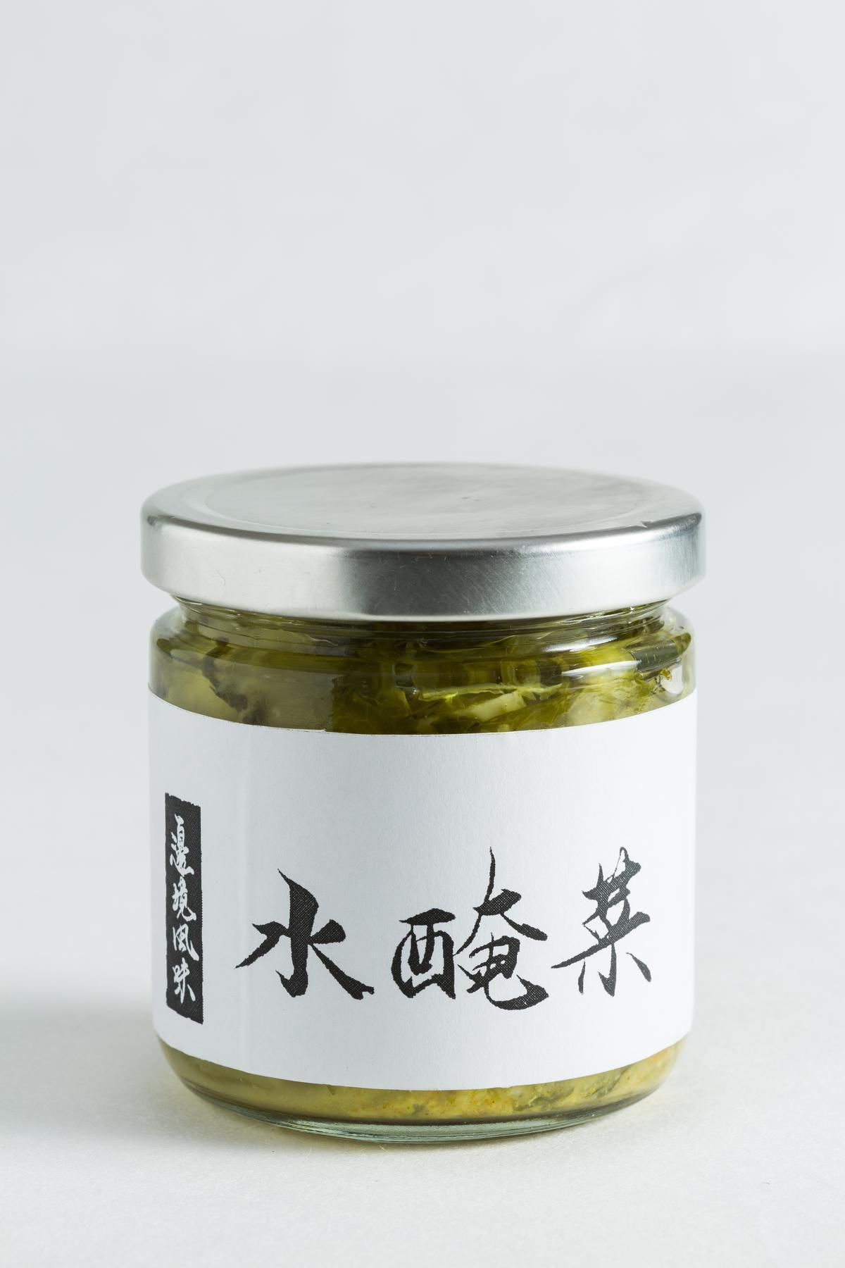 雲南水醃菜。(魚麗共同廚房,100元/瓶)