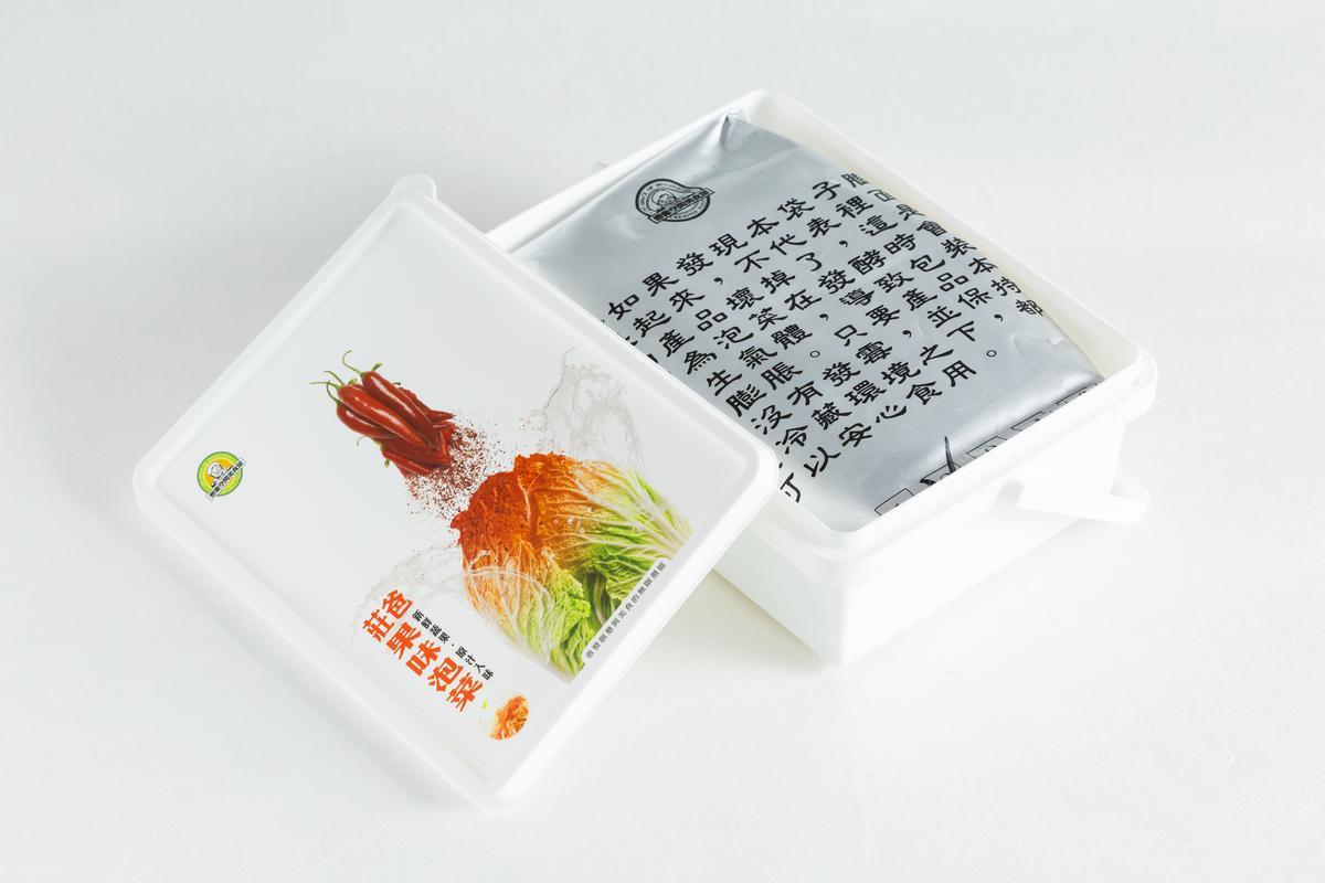 果味泡菜。(莊爸泡菜,550元/3盒)