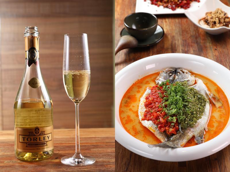 當匈牙利的白酒與氣泡酒,遇上鮮辣的剁椒魚頭,反而能降低辣度,增加鮮味。