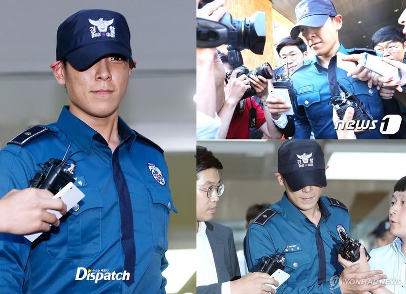 BIGBANG成員T.O.P涉呼麻,今被義警隊開除,將被分配到其他單位服役。(翻攝韓網)