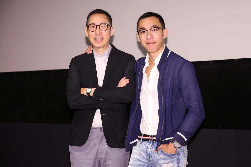 張堅庭(左)與張高銘(右)父子為錶商合作執導微電影,私下父子感情好,工作上一樣默契十足。