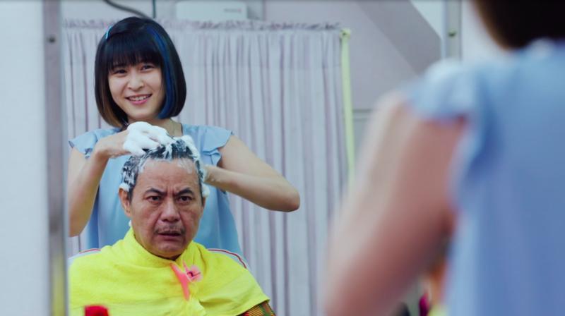 江宜蓉為蔡振南洗頭時,意外爆出收視吸睛點。