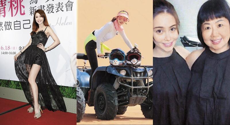 海倫清桃寫真集發表會(左);沙漠最美風景林志玲(中);昆凌媽撞臉曹格女兒Grace(右)。