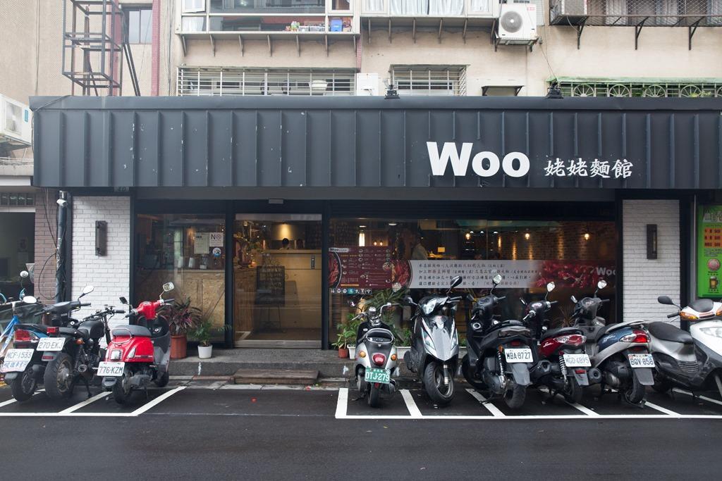 「Woo姥姥麵館」是以之前義大利麵餐廳的設計做改造。
