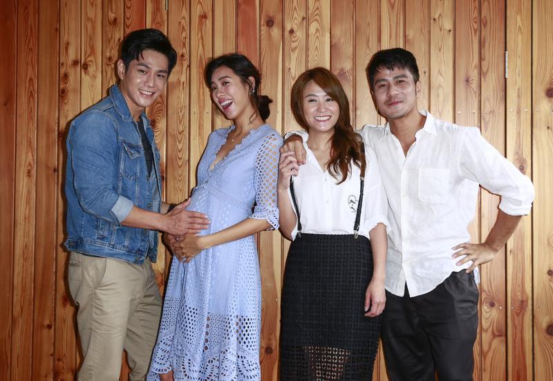 《咕咾小姐》主要演員有祖雄(左起)、林可彤、海裕芬和郭彥甫。