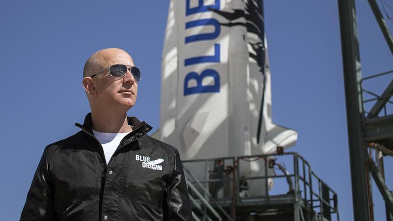 貝佐斯認為自己投資的Blue Origin太空公司,也是著眼全人類的福利事業。(東方IC)