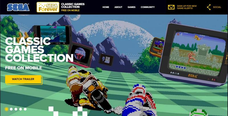 以蒐集SEGA過去經典遊戲的平台,SEGA Forever計畫在22日正式開始。(翻攝自官方網站)