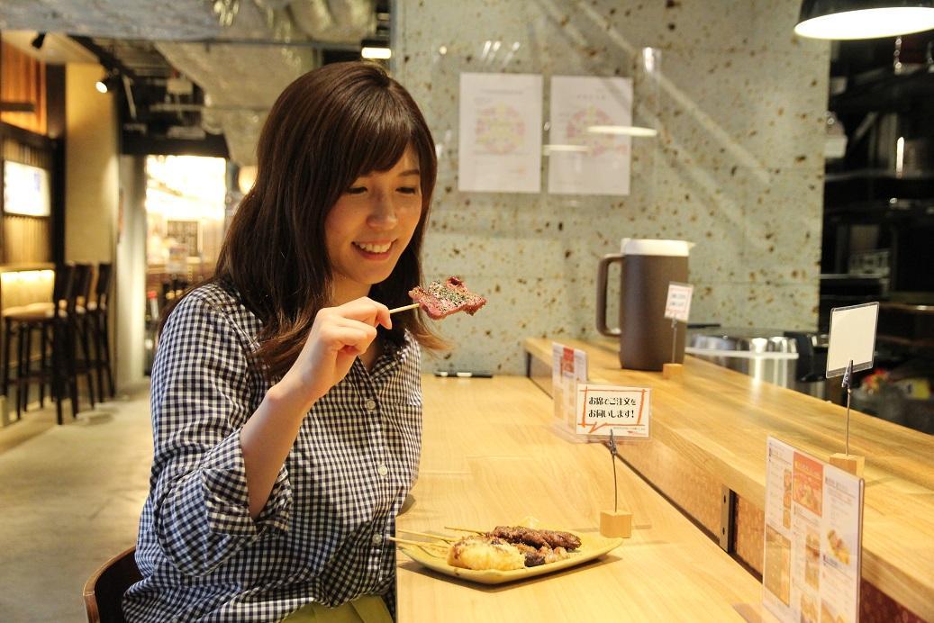 「燒肉串弘」可以一次嘗到牛的多種部位口味。