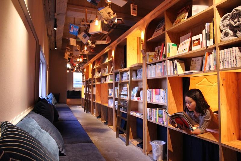 京都的書店旅館,睡在裡面可以被3千多本書包圍。