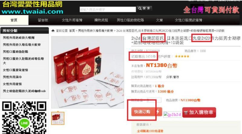 本刊接獲民眾爆料有網站銷售日本治早洩產品,產品的來源卻有問題。