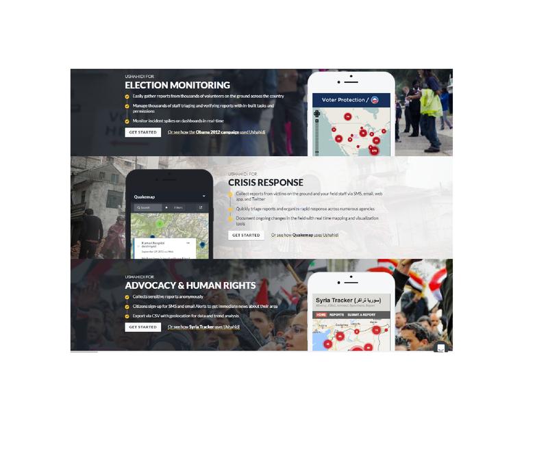 免費軟體Ushahidi是個開放原始碼的線上通報系統,伊拉克戰區記者可利用此軟體,掌握即時災情通報。(翻攝Ushahidi)