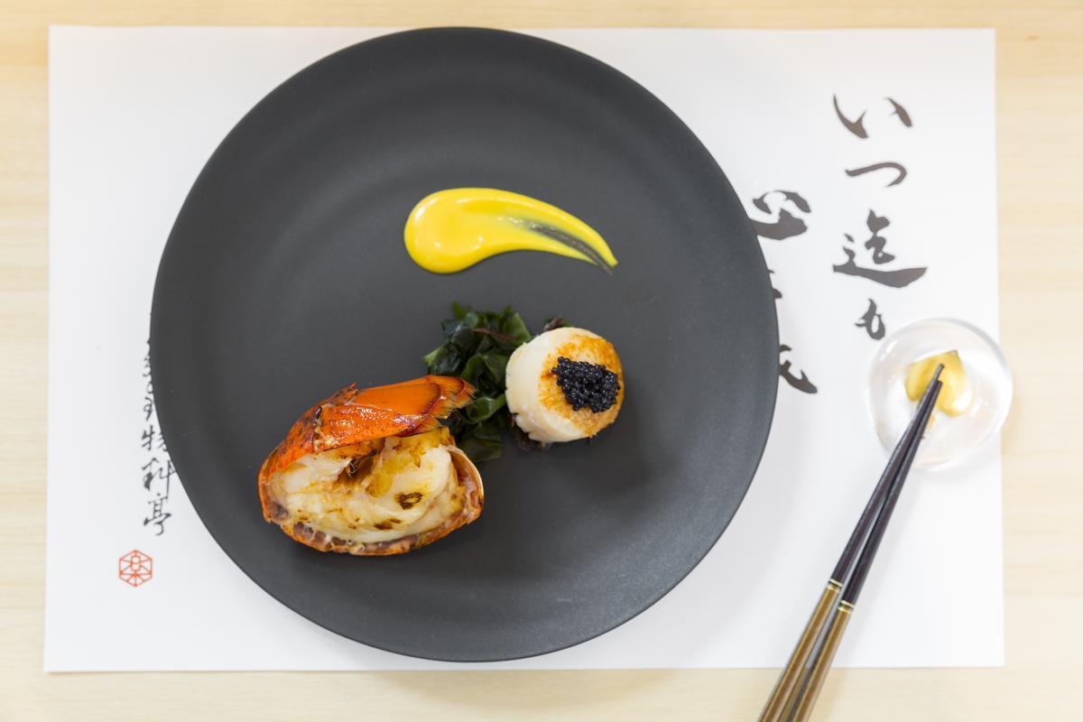 波士頓龍蝦與北海道干貝,令人垂涎。