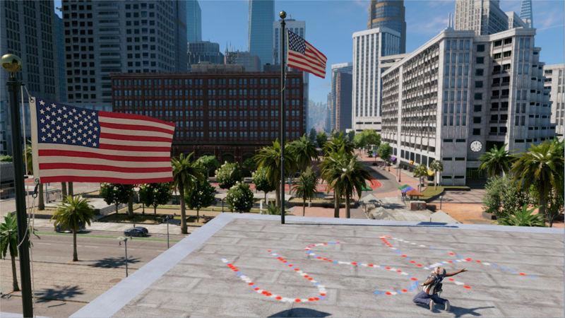 《看門狗2》玩家的美國國慶日有點曲折。