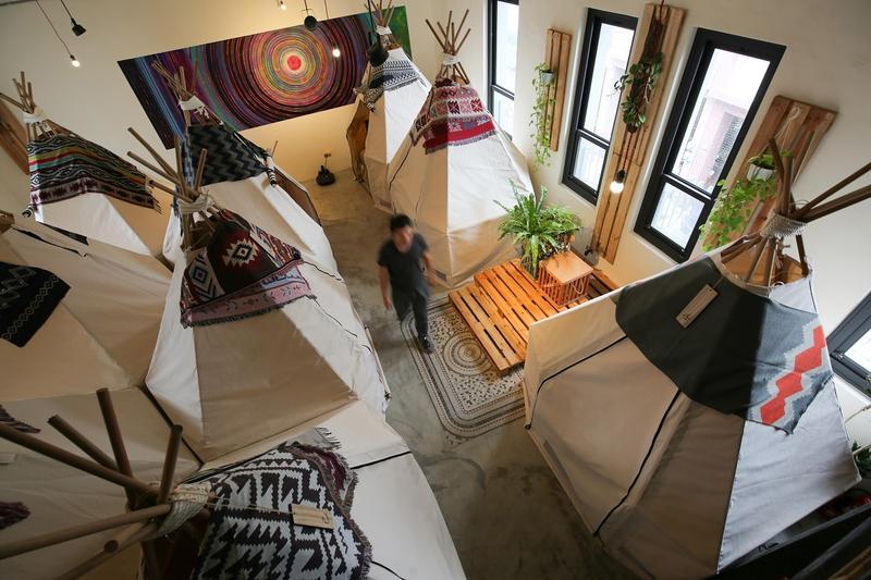 南美洲的帳篷感空間,視覺充滿驚喜。