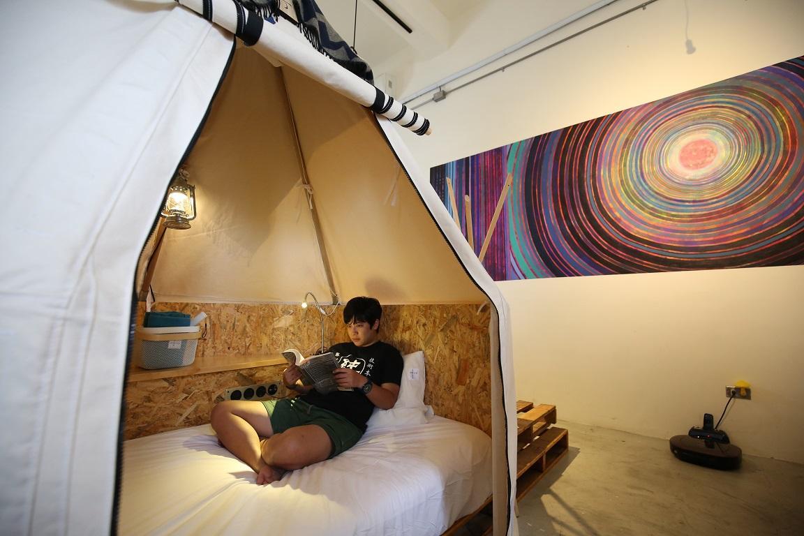 帳篷很舒適,應有盡有,又充滿設計感。