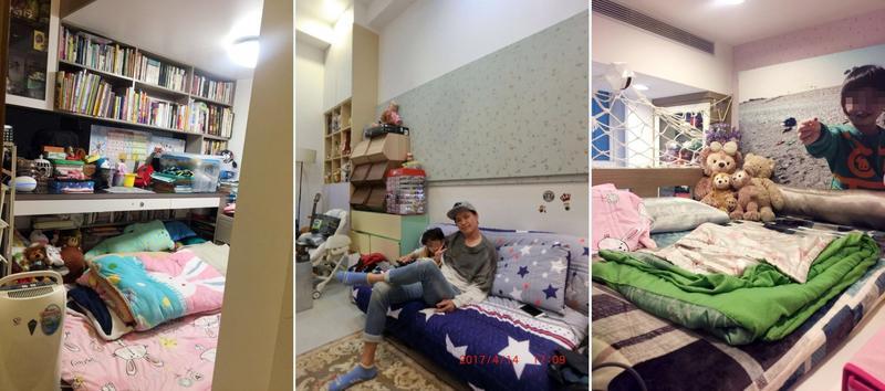 黃鐙輝在裝潢時,特別重視小孩房間規劃與收納設計。