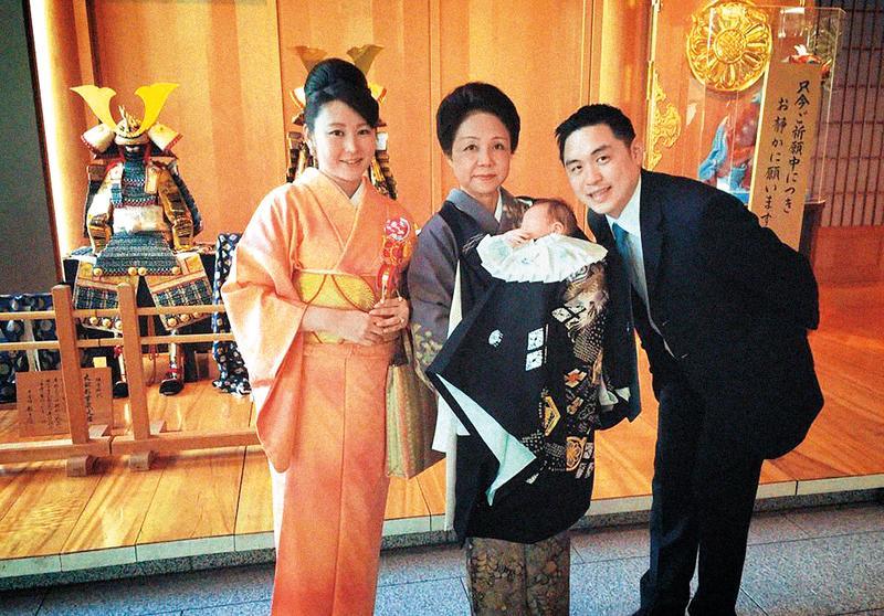 李晶晶前夫王泉仁(右)和麻衣(左)再婚,據傳兩人也在鬧婚變,但兩人至今都未對外正式回應。(翻攝自麻衣臉書)