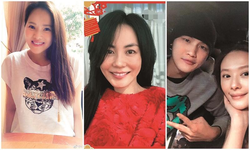 不只李晶晶和蕭亞軒,伊能靜(左)、王菲(中)、蕭淑慎(右)也是娛樂圈姐弟戀代表。