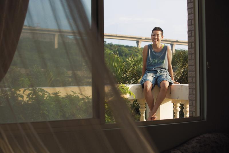3樓是吳沁婕的房間,房間外的露台是她想心事的地方。
