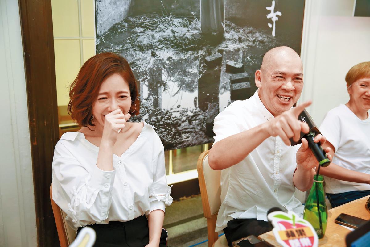 尹馨與導演蔡明亮出席《家在蘭若寺》記者會,意外造成笑果。