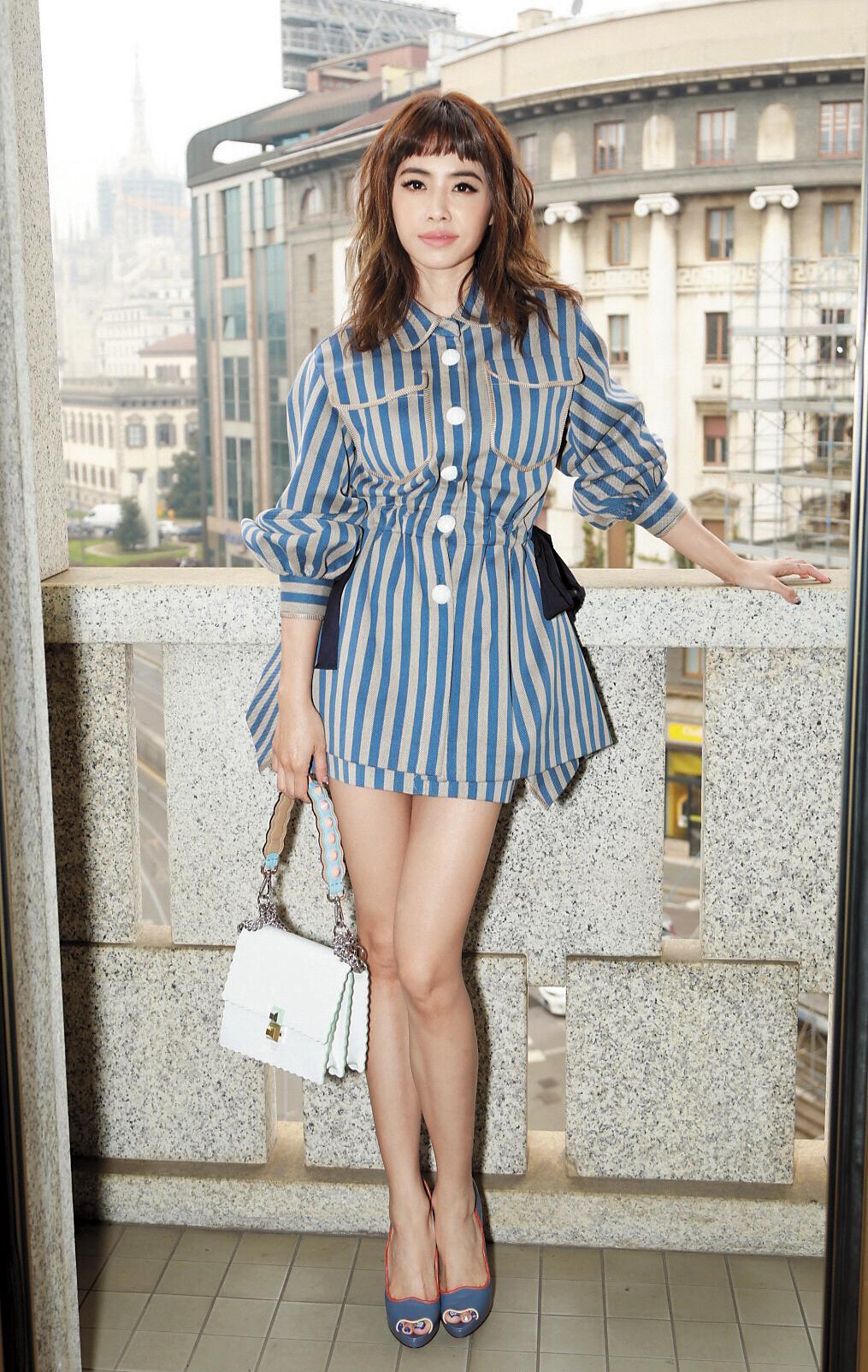 蔡依林之前頻頻飛出台灣看秀,留下不少時尚美照。圖為她參加米蘭時裝週的模樣,一舉手一投足都成為外界話題。(東方IC)
