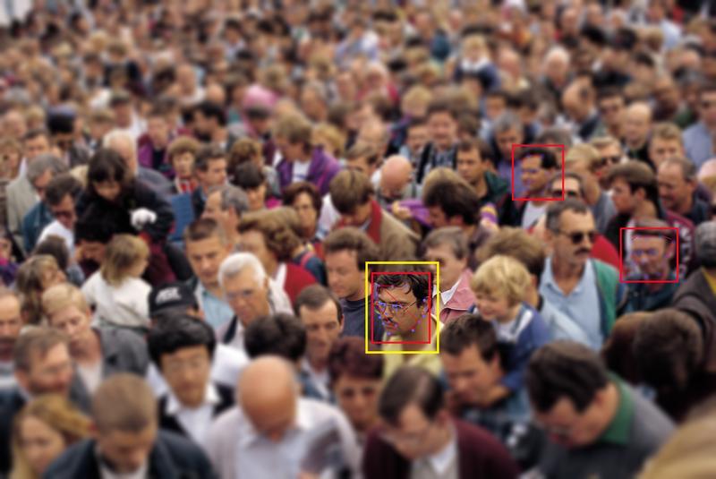 AI面部辨識系統,如今已可在人群中辨識特定對象。(東方IC)