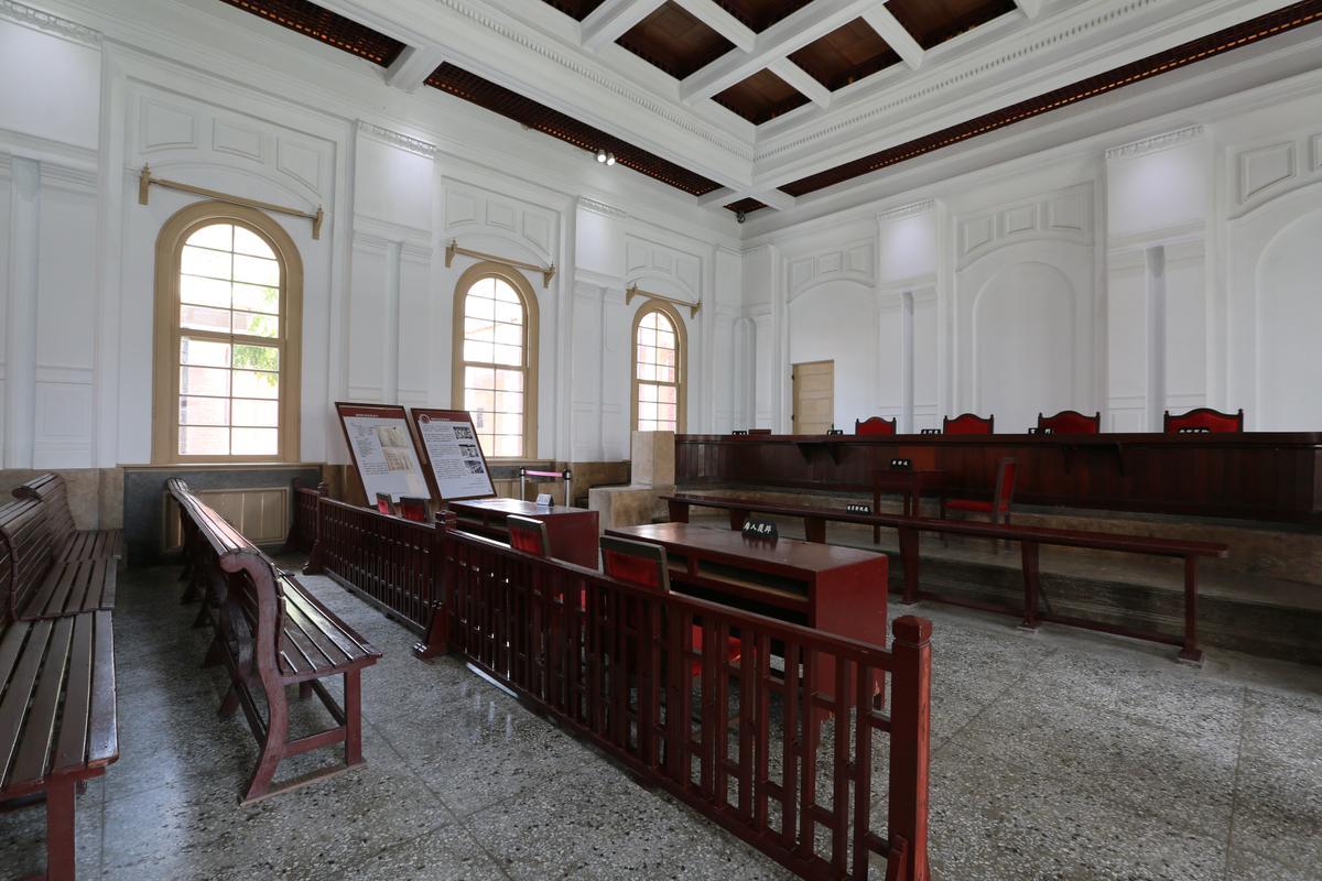 這一間是最大的法庭,「噍吧哖事件」就在這裡審理。