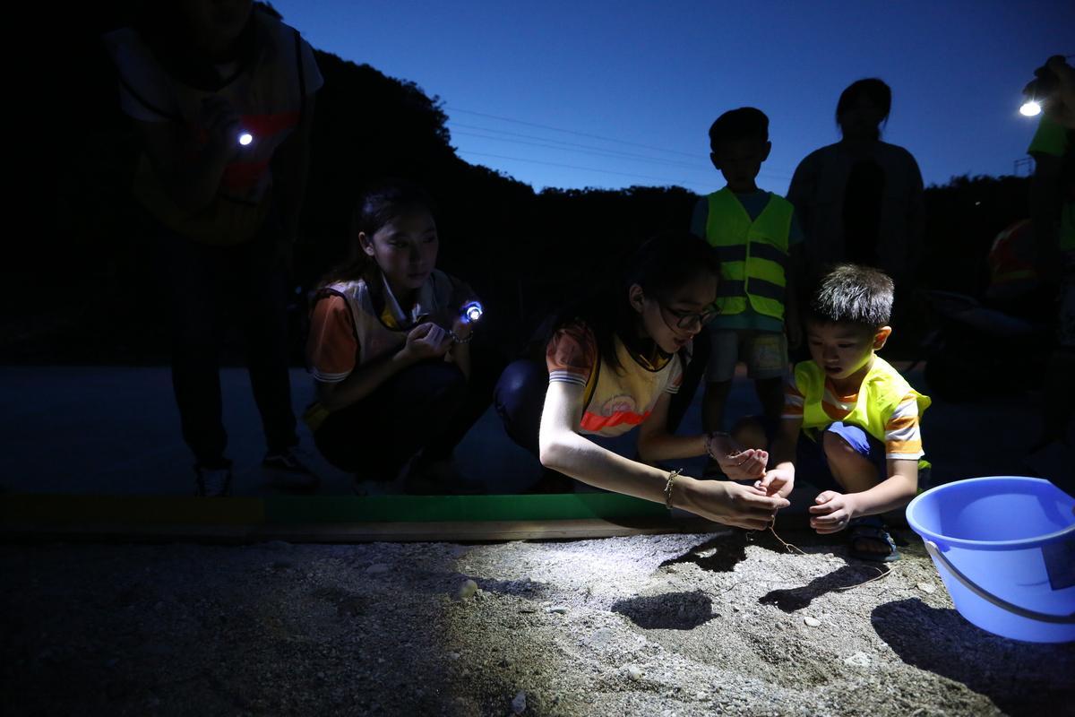 在專家學者的號召下,越來越多民眾加入護蟹行列。