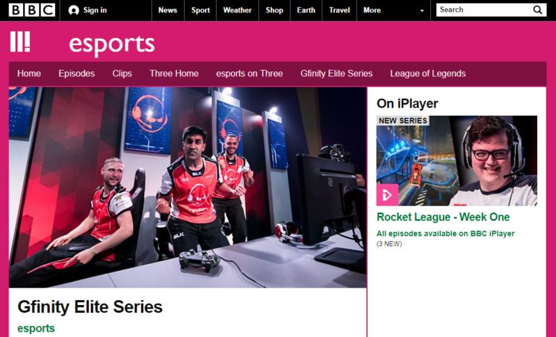 BBC 第三台開播一系列電競相關節目,首先是 Gfinity 電競菁英系列賽。(翻攝自 BBC 第三台網站)