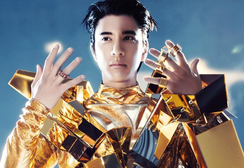 王力宏新專輯視覺照,滿滿科技感。