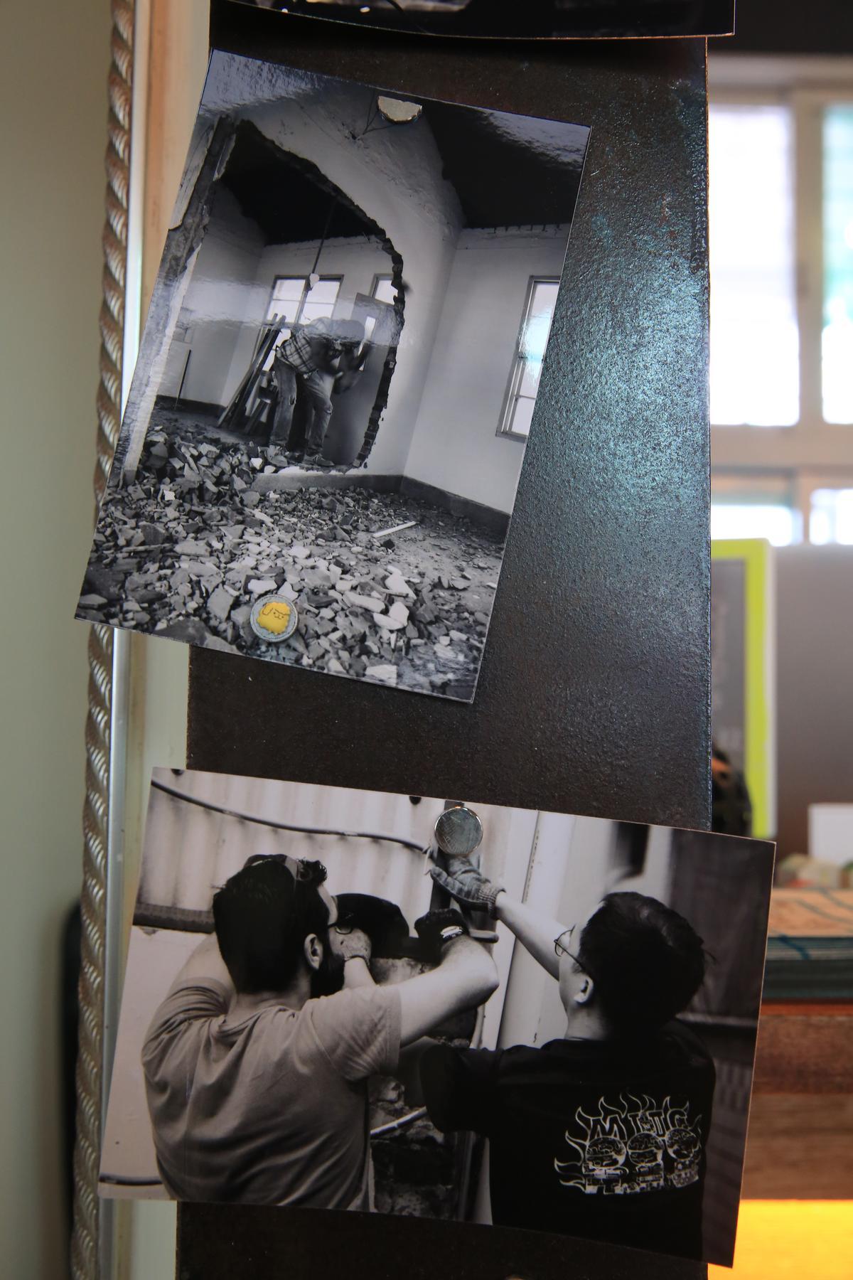黑白照片記錄Diego改造老屋的點滴。