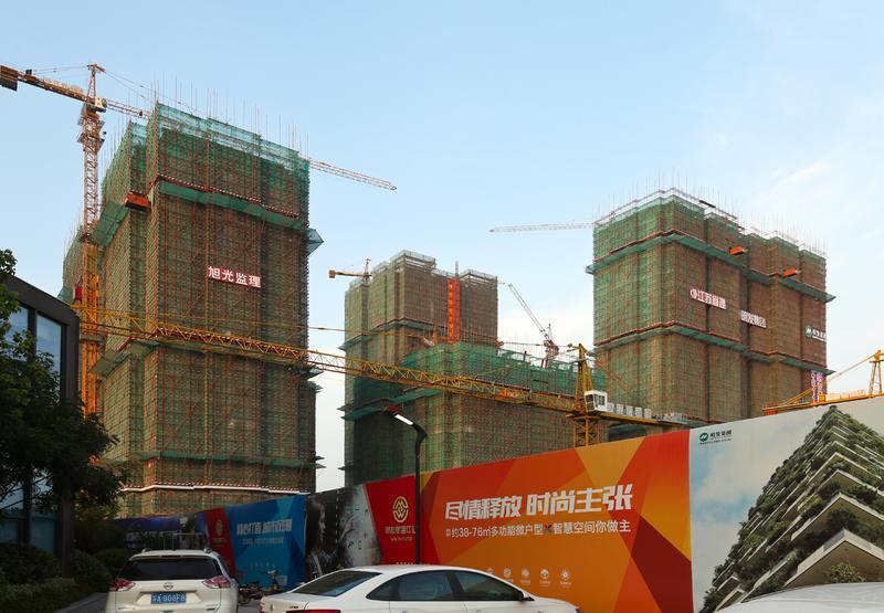 浦口附近房產價格飆漲,江浦一帶新建案處處可見。