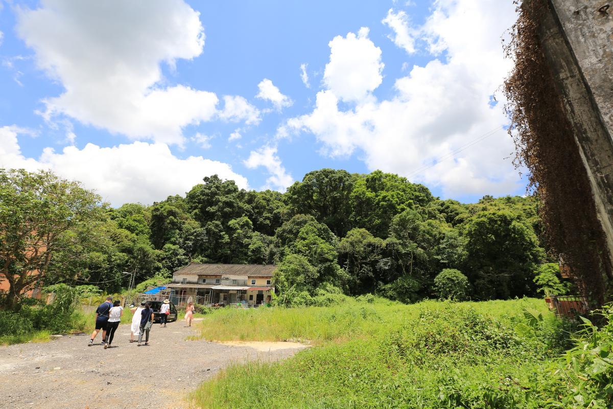 小屋附近有許多農田,何比與陳達燊也在不遠的地方與朋友一起耕作。