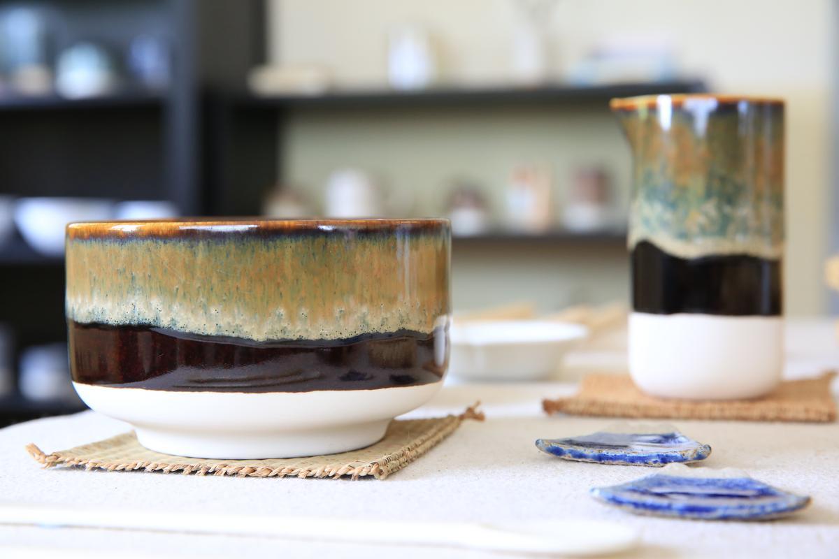 來自日本的茶碗。