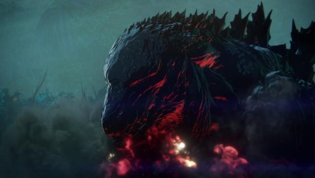 《GODZILLA 怪獸惑星》動畫電影塑造了不同以往的全新哥吉拉。(預告截圖)
